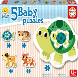 5 Baby Puzzles Animales